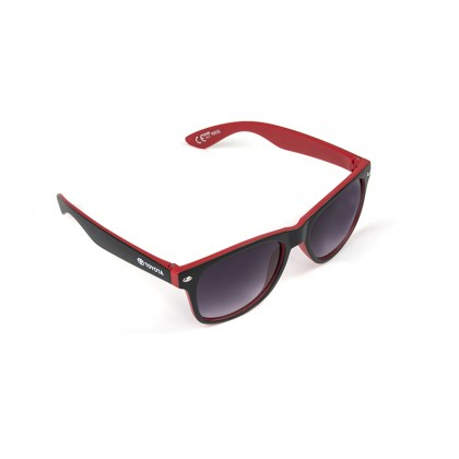 Unisex Black & Red Matte Sunglasses
